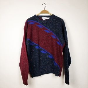 VTG Ron Chereskin • Color block Grandpa Sweater